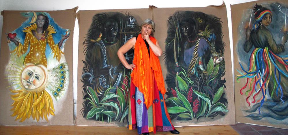 Maria Giulia Alemanno in studio con gli Orishas