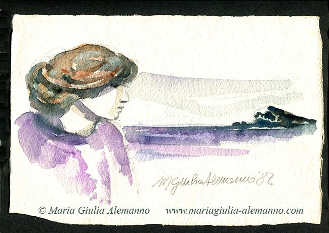 RAGAZZA IN VIOLA DAVANTI AL MARE copy