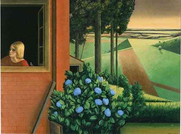 """Sergio Albano: """"Alla Finestra"""", olio su tavola cm,60 x 80 - 2005"""