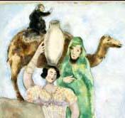 Chagall - Bible éliézer et Rébecca detail