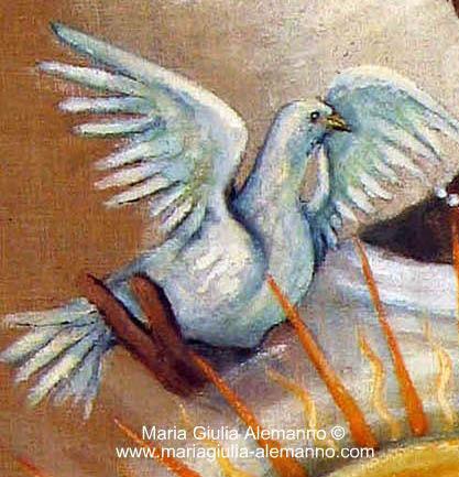 La colomba di Obatalá dipinta da Maria Giulia Alemanno, copertina del video di YouTube