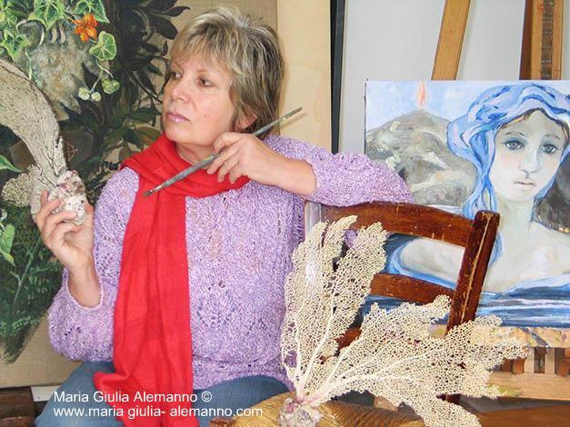 Maria Giulia Alemanno in studio