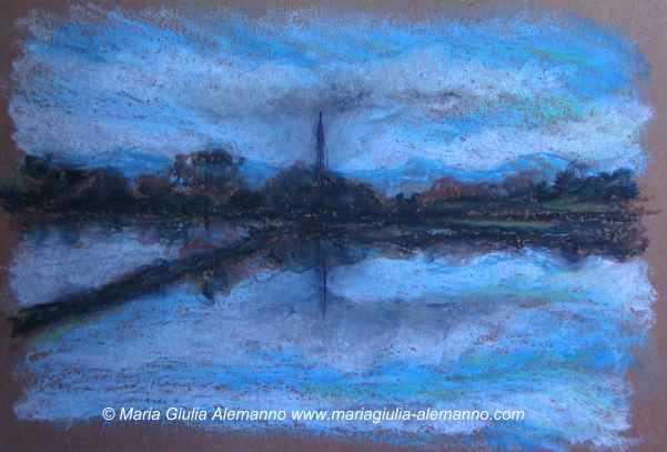 PICCOLO SAN GRISANTE, pastelli a olio su carta cm 15 x 20 - 2010
